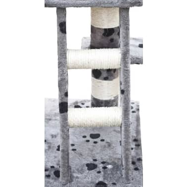 vidaXL Klösträd 122 cm grå med tassavtryck[4/5]