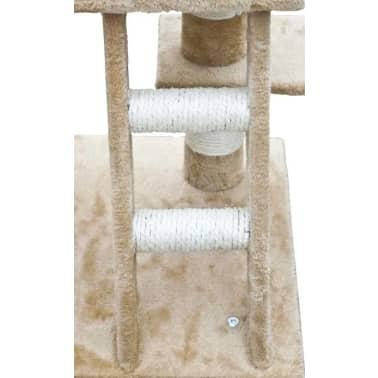 vidaXL kradsetræ til katte 122 cm plys beige[4/5]