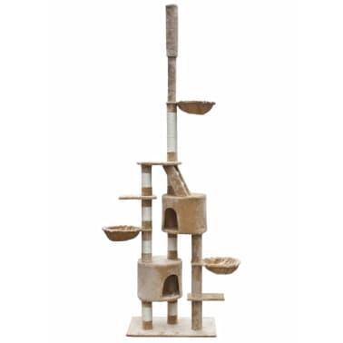 XL kasside kraapimispuu 230-260 cm beež plüüs[1/5]