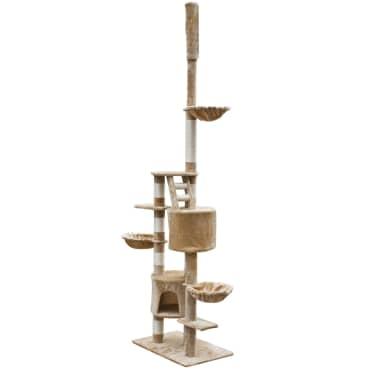 XL kasside kraapimispuu 230-260 cm beež plüüs[2/5]