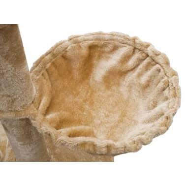 XL kasside kraapimispuu 230-260 cm beež plüüs[5/5]