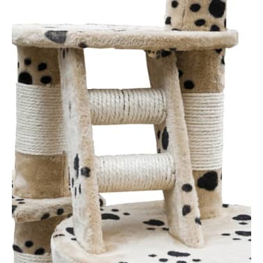 Cat Play Tree Cuddles XL 230 - 260 cm Beige with Paw Prints[4/5]