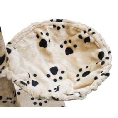 Cat Play Tree Cuddles XL 230 - 260 cm Beige with Paw Prints[5/5]