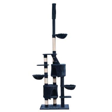 Mačje Drevo / Praskalnik XL 230-260 cm Temno Moder Pliš[1/5]