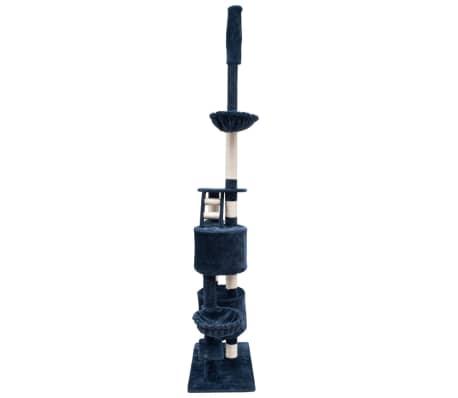 Mačje Drevo / Praskalnik XL 230-260 cm Temno Moder Pliš[2/5]
