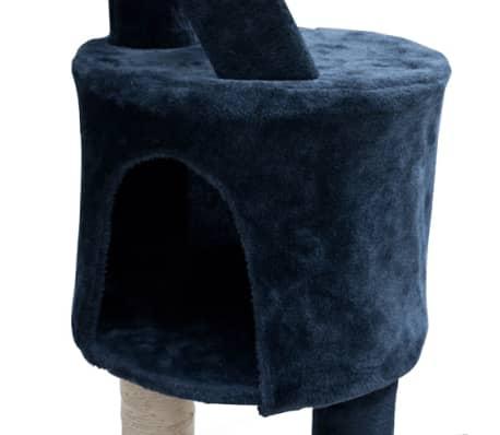Mačje Drevo / Praskalnik XL 230-260 cm Temno Moder Pliš[3/5]