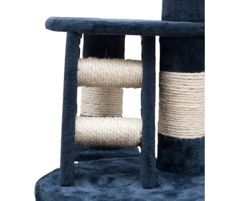 Mačje Drevo / Praskalnik XL 230-260 cm Temno Moder Pliš[4/5]