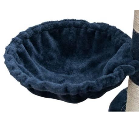 Mačje Drevo / Praskalnik XL 230-260 cm Temno Moder Pliš[5/5]