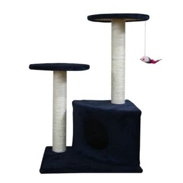 Scratching Cat Play Pole Dark Blue[2/3]