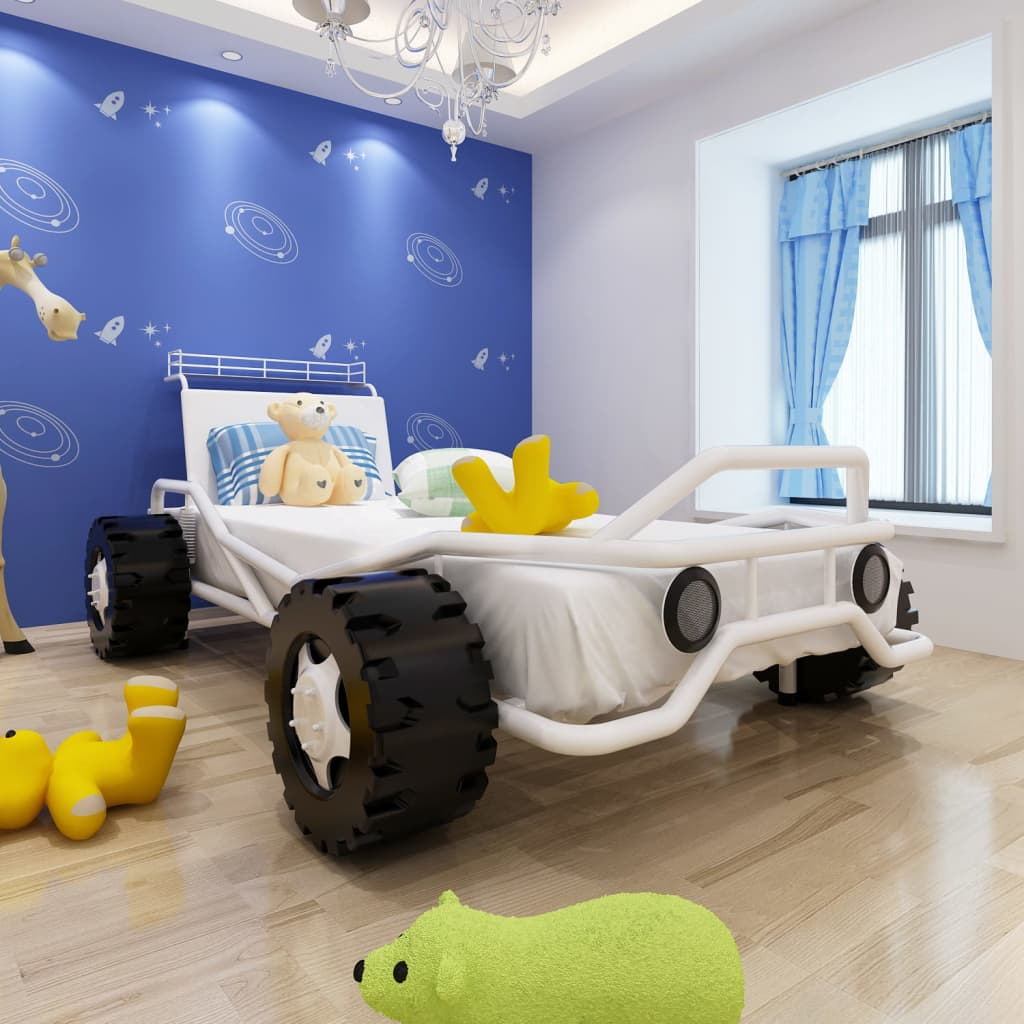 Pat copii sub formă de mașină 200 x 90 cm vidaxl.ro