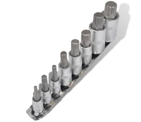 vidaXL Set de puntas de 12 puntos 8 piezas rayadas[1/4]