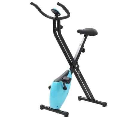 vidaXL Magnetický rotopéd X-Bike s meraním pulzu, čierna a modrá