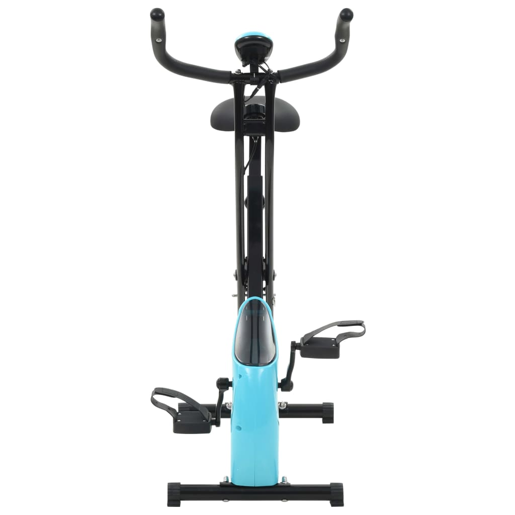 vidaXL-Magnetic-Exercise-X-Bike-with-Pulse-Measurement-Black-and-Blue-Fitness thumbnail 3