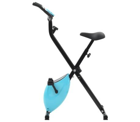 vidaXL Magnet. treniruok. dvir. su pulso mat., X rėm., juod. ir mėlyn.[2/10]