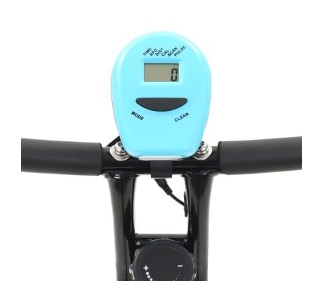vidaXL Magnet. treniruok. dvir. su pulso mat., X rėm., juod. ir mėlyn.[6/10]