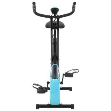 vidaXL Magnet. treniruok. dvir. su pulso mat., X rėm., juod. ir mėlyn.[3/10]