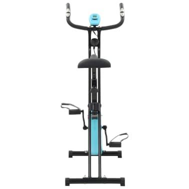 vidaXL Magnet. treniruok. dvir. su pulso mat., X rėm., juod. ir mėlyn.[5/10]