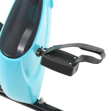 vidaXL Magnet. treniruok. dvir. su pulso mat., X rėm., juod. ir mėlyn.[9/10]