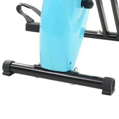 vidaXL Magnet. treniruok. dvir. su pulso mat., X rėm., juod. ir mėlyn.[10/10]