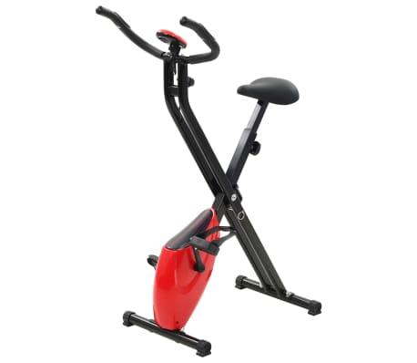 vidaXL Magnetický rotopéd X-Bike s meraním pulzu, čierna a červená