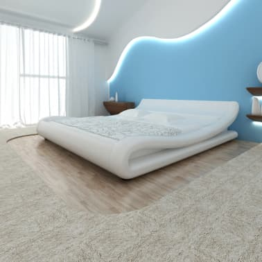 Kunstlederbett Bett Lattenrostmatratze 180x200 Weiß Günstig Kaufen