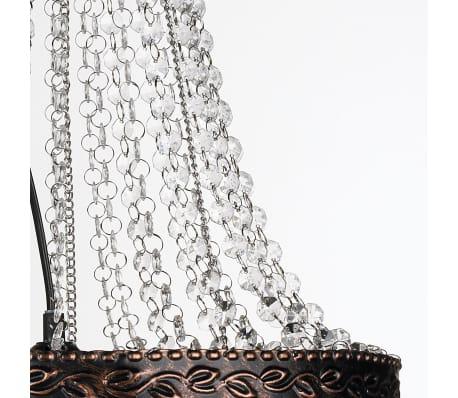 Pendant Ceiling Lamp Crystal Design Antique Silver