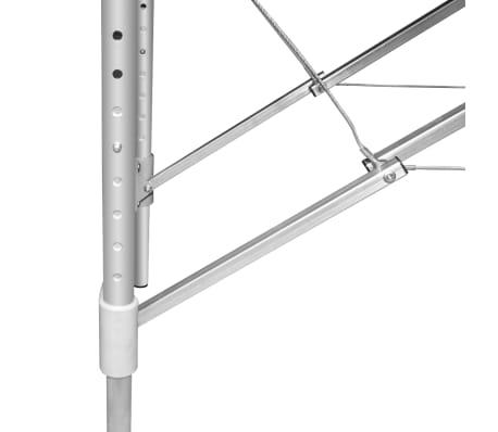 Foldable Massage Table 3 Zones Aluminium Cream White[5/6]