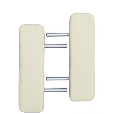 Foldable Massage Table 3 Zones Aluminium Cream White[4/6]
