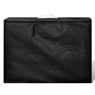 Foldable Massage Table 3 Zones Aluminium Cream White[6/6]
