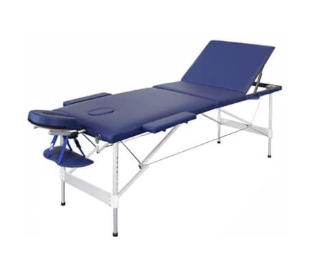 acheter table de massage pliante avec 3 zones en alu bleu pas cher. Black Bedroom Furniture Sets. Home Design Ideas