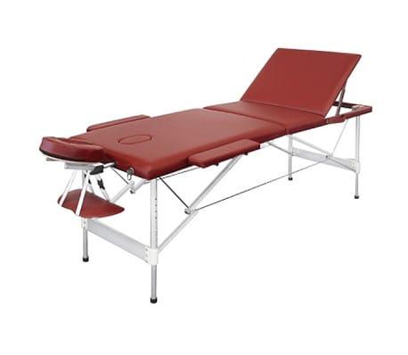 acheter table de massage pliante avec 3 zones en alu rouge pas cher. Black Bedroom Furniture Sets. Home Design Ideas