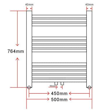 Radiator håndklestativ 500 x 764 mm[8/8]