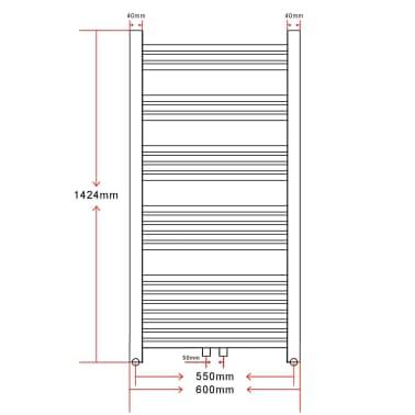 vidaXL Radiator/handdoekenrek recht 600x1424 mm[8/8]