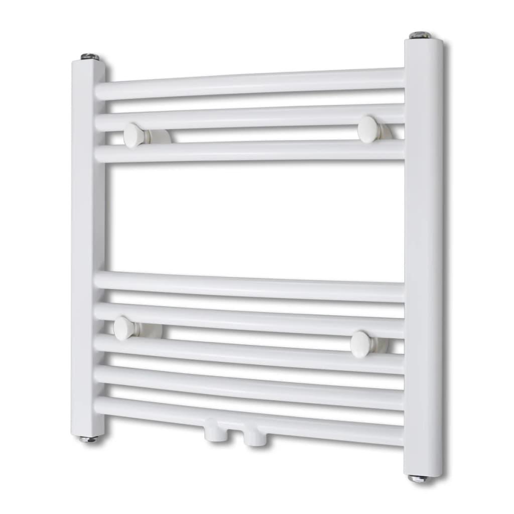 Žebříkový radiátor obloukový, ústřední topení 480 x 480 mm boční a střední přípojka