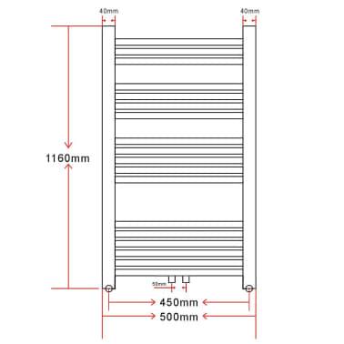 Sèche-Serviettes Chauffage Central Incurvés 500x1160mm + Connecteurs[9/9]
