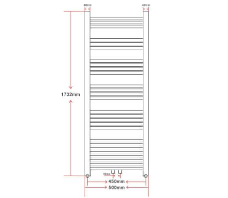 Radiatorius, rankšluosčių džiovykla vonios kambariui, 500 x 1732 mm[9/9]
