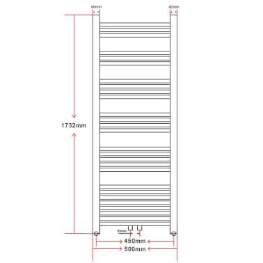vidaXL Radiator/handdoekenrek curve 500x1732 mm[9/9]