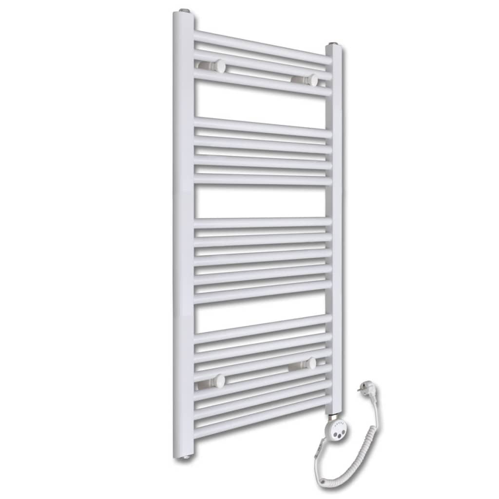 Radiator baie cu termostat electric 600 W 500 x 1160 mm model drept vidaxl.ro