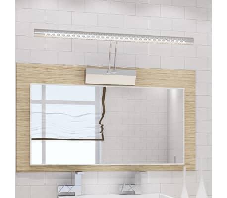 Aplique de ba o para el espejo led color blanco fr o 55 cm 7w - Aplique espejo bano ...