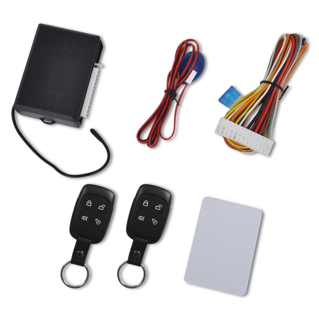 Kit universal închidere centralizată auto cu 2 telecomenzi chei poza vidaxl.ro