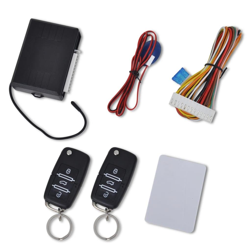 vidaXL Car Central Door Locking Set with 2 Remote Keys VW Skoda Audi