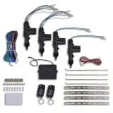 Kit fechadura central carro VW/Audi/Skoda controlo remoto 4 motors 12V
