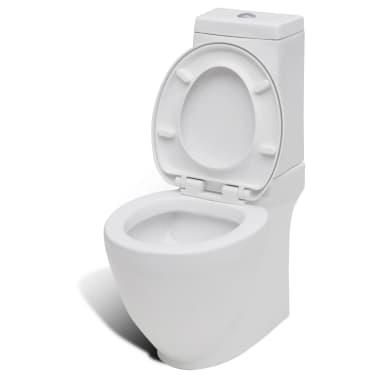 vidaXL Juego de váter WC y bidé de cerámica blanca[6/13]
