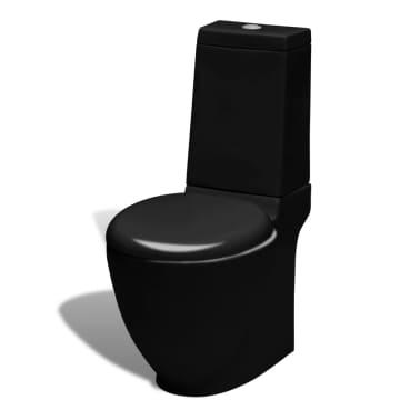 Čierna stojaca keramická toaleta a bidet[3/13]