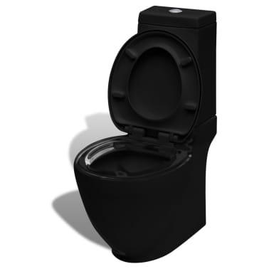 Čierna stojaca keramická toaleta a bidet[5/13]