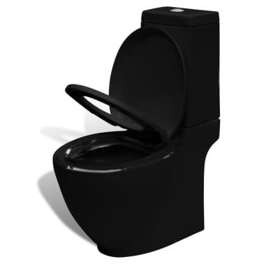 Čierna stojaca keramická toaleta a bidet[6/13]