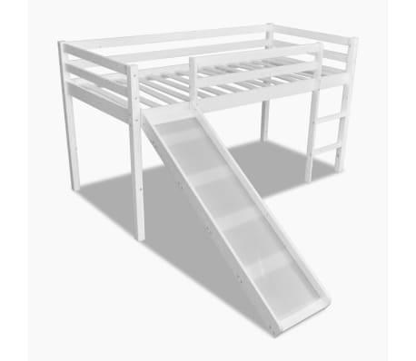 Letto a soppalco bianco con scala struttura in legno a - Struttura letto a soppalco ...
