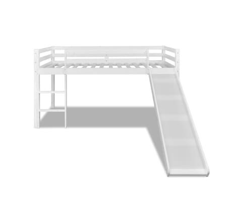 Lit mezzanine avec toboggan et chelle en bois blanc - Lit mezzanine bois blanc ...