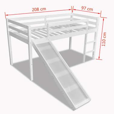 kinderhochbett mit leiter rutsche wei holzstruktur g nstig kaufen. Black Bedroom Furniture Sets. Home Design Ideas