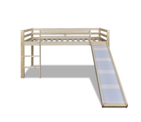 acheter lit mezzanine avec toboggan et chelle en bois naturel pas cher. Black Bedroom Furniture Sets. Home Design Ideas